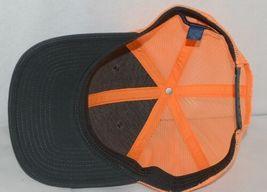 Port Authority C112 Snapback Trucker Cap Grey Steel Neon Orange image 6