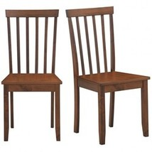 Set of 2 Dining Chair with Solid Wooden Legs - Color: Walnut - $169.42