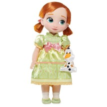 "Disney Animator's Collection 16"" Anna Doll with Olaf (Updated Satin Dres... - $39.99"