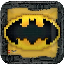 "Lego Batman 9"" Square 8 Ct Paper Lunch Dinner Plates Party - $5.69"