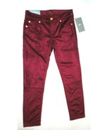 New Girls Jeans Skinny 7 for all mankind 12 NWT Dark Red Velour Velvet L... - $35.60