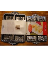 new nordic ware holiday mini loaf aluminum 6 cup baking pan platinum col... - $25.00