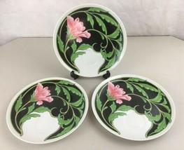 3 -  Neiman-Marcus Vintage Floral & Butterfly Luncheon / Snack Plate Japan - $19.75
