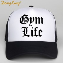 Sportmen Weight Lifting Gym Life Cap Hip Hop Black White Breathable Base... - $14.84