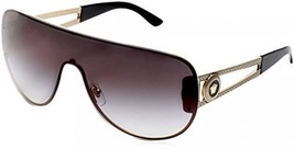 Authentic Italy Versace Gold/Grey Mens Fashion Sunglasses Sun Eyewear Shades - $149.48