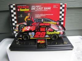 1995 Texaco Havoline Dale Jarrett Die Cast Bank 1:24 Scale - $21.03