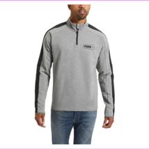 PUMA Men's Stretchlite Half Zip Top, M , Heather Gray  - $24.49