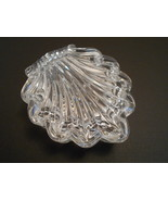 Shell Shape Crystal Ringholder Jewelry Box from Yugoslavia - $8.10