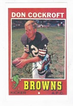 DON COCKROFT AUTOGRAPHED PAPER CARD PHOTO 5 X 8 INCHES CLEVELAND BROWNS - £3.25 GBP