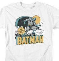 Bat Man T-shirt comic book retro 80s cartoon DC Robin white superhero tee DCO756 image 1