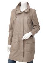 QASTAN Women's New Gorgeous Stylish Beige Sheep Leather Parka Long Coat ... - $187.11+
