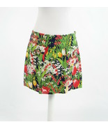Navy blue green pink floral print cotton blend TORY BURCH mini skirt 10 - $54.99