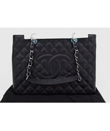 AUTHENTIC NEW CHANEL QUILTED CAVIAR GST GRAND SHOPPING TOTE BAG BLACK SHW  - $3,099.00