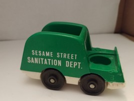 Vintage 1970 Fisher Price Little People SESAME STREET GARBAGE/SANITATION... - $8.50