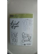 Stampin Up BIG ON YOU Large Font Love You, It's Your Day, So Kind --Gent... - $21.51