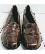 Womens Clarks Brown Loafer Bendables with Croc Accent 7.50 M - $24.00