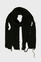 Écharpe en tricot grossier unisexe Diesel K-Dom 00SJ49 Noir - $106.64