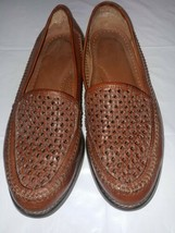 G.H. Bass Weejuns Turner Brown Leather Weave Front Slip On Loafers Mens 8.5M - $17.99