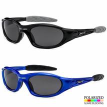 Xloop Polarized Black Lens Mens Fishing Cycling Baseball Sport Wrap Sunglasses - $7.91+