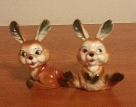 Vintage Ardco Fine Quality Dallas Brown Ceramic Pair of Rabbits Japan - $11.88