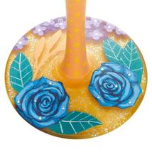"""Blue Florals """"Designs by Lolita"""" Wine Glass 15 o.z. 9"""" High  Gift Boxed image 5"""