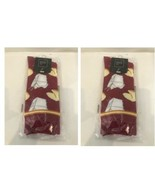 Fortune Cookies 2 Pairs Crew Socks Sock Size 10-13 Chinese Food Takeout AF1 - $13.95