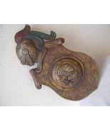 Antique 1900 German black forest carved wood shield medieval knight shop... - $600.00