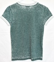 Forever 21 Women's Heathered Green Crew Neck T-Shirt w Front Pocket Size S image 2