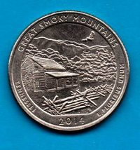 2014 P Tennessee Great Smoky Mountains Quarter - America The Beautiful - $2.00