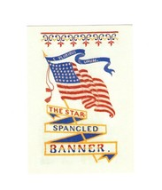 PICTURE POSTCARD-STAR SPANGLED BANNER SOUVENIER BOOK MARK- FIRST DAY ISS... - $1.47