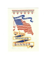 PICTURE POSTCARD-STAR SPANGLED BANNER SOUVENIER BOOK MARK- FIRST DAY ISS... - $28,03 MXN