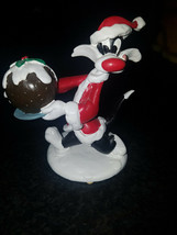 Extremely Rare! Looney Tunes Sylvester Christmas Time Small Figurine Statue - $118.80