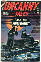 Uncanny Tales #23 1954- Werewolf- Atlas horror- Captain America ad VG - $254.63