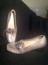 New Stuart Weitzman Made In Spain Pewter Leather Loafer Women's Sz 6M Mrsp $284 - $64.35