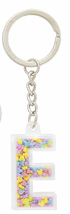 Disney Parks Mickey Mouse Bead Letter E Initial Keychain NEW - $15.90