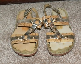 Michael Kors Gold Metallic Sandals Shoes Woman's Size 6 th - $29.99