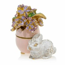 Jay Strongwater Floret - Lilac Egg Bunny Box 14K Gold Swarovski crystals... - $371.25