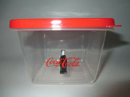 Coca-Cola 6 Pack Square Reusable Plastic Food Storage Container with Lid - $4.95