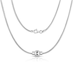 Jewelry Sterling Silver Necklace With Silver Ball 18 inch Premium Snake ... - $169.78