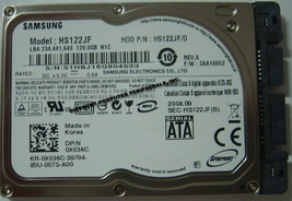 "New 120GB 1.8"" uSATA Hard Drive Samsung HS122JF DELL 0X036C Free USA Shipping"