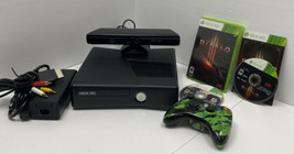 Microsoft Xbox 360 S Console Model 1439 Bundle Controller 2 Games Kinect Tested - $115.00