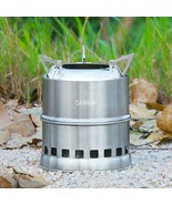 Camping Stove Collapsible Cooking BBQ breakfast Travel Portable Steel NEW - $50.09