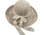 Cap women ladies casual wide brimmed floppy foldable straw flower beach summer cap thumb155 crop