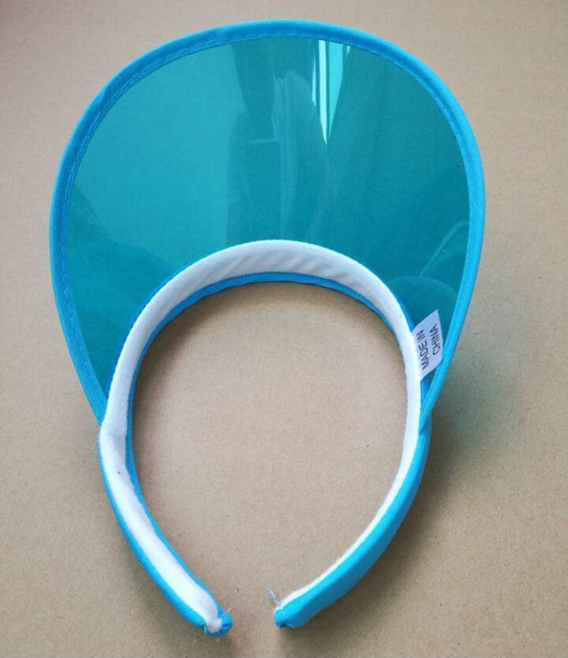 Women Transparent Sun Visor Hat Cap Uv Protection Cover Flexible Summer Headband