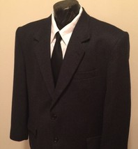 VINCENZO Le Collezioni Gray Cashmere Wool Mens 44 R Sport Coat Blazer Jacket EUC - $32.99