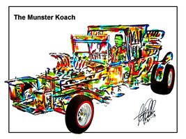 "The Munsters Koach, Herman Munster, Race Car, 18""x24"" Art Print - $19.99"