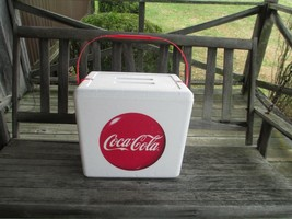 Coca-Cola Styrofoam Cooler with Handle and Disc Logo and  an included Ic... - $9.41