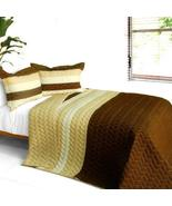 [Charming Guerlain] 3PC Vermicelli-Quilted Patchwork Quilt Set (Full/Que... - $98.89