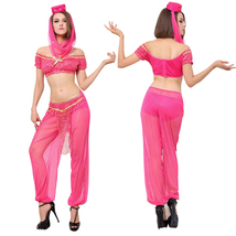 Lady Jasmine Aladdin Princess Indian Dancer Halloween Cosplay Costume - $28.76