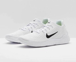 Nike Free RN 2018 Men's Running Shoes White Black 942836-100 Size 8.5 - $68.99